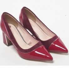 Giày cao gót vuông 5 phân Pierre Cardin PCWFWSD096RED màu đỏ