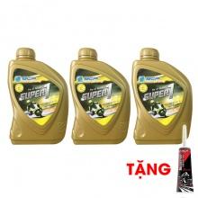 Combo 3 chai nhớt xe tay ga BCP Super 1 – 10W40 SL – 0.8 lít + nhớt lap xe ga BCP