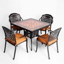 Bộ bàn ghế nhôm đúc ngoài trời BG-04VM