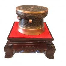 Quả trống đồng Ngọc Lũ đường kính 30cm, hoa văn nổi cao cấp