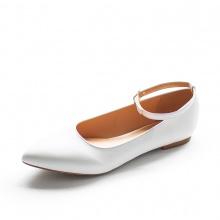 Giày nữ, giày búp bê Erosska đế bệt phối quai thời trang cao 2cm EF002 (màu trắng)