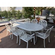 Bộ bàn ghế sân vườn biệt thự màu trắng BG-03ET