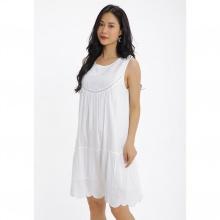 Đầm suông họa tiết thêu Md'M MD67568929-WH