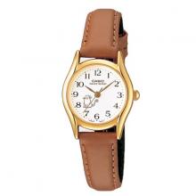 Đồng hồ nữ Casio LTP-1094Q-7B8R dây da nâu - mặt số viền vàng