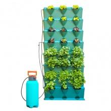 Chậu trồng cây đứng Minigraden Vertical kèm hệ thống tưới nhỏ giọt và bón phân cho cây (hàng nhập khẩu - combo 8 module)