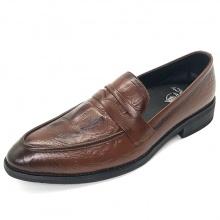 Giày tây nam dập vân da bò cao cấp Lucacy T02N