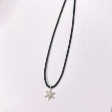 Dây chuyền mặt bạc hình hoa tuyết noel an lành 1 - Ngọc Quý Gemstones