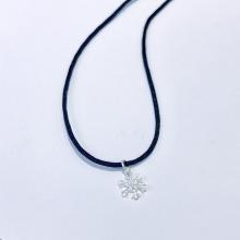 Dây chuyền mặt bạc hình hoa tuyết noel an lành 3 - Ngọc Quý Gemstones