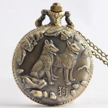 Đồng hồ pin bỏ túi cổ điển retro năm tuổi 12 con giáp tuổi Tuất Chó