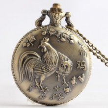 Đồng hồ pin bỏ túi cổ điển retro năm tuổi 12 con giáp tuổi Dậu Gà