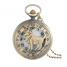 Đồng hồ pin quả quýt bỏ túi cổ điển retro tháng sinh 12 cung hoàng đạo Bạch Dương Dương Cưu Aries