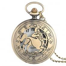 Đồng hồ pin quả quýt bỏ túi cổ điển retro tháng sinh 12 cung hoàng đạo Nhân Mã Cung Thủ Xạ Thủ Sagittarius