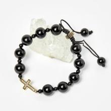 Vòng chuỗi Mân Côi đá Obsidian đen hạt đá 10mm, ni 52mm - Ngọc Quý Gemstones
