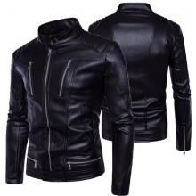 Áo khoác da nam lót lông Modelfashion phong cách Hàn Quốc AKD035