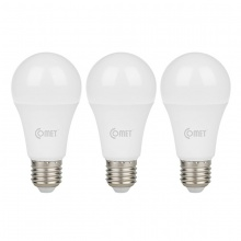 Bộ 03 bóng Led Bulb Comet 12W CB01F012 - ánh sáng vàng