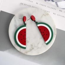 Bông tai Hàn Quốc watermelon - Tatiana - BH2902 (Đỏ)