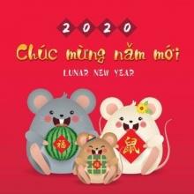 Decal trang trí tết Xuân Canh Tý PK586