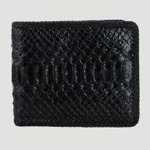 Bóp nam Huy Hoàng da trăn đan viền màu đen HV2313