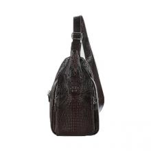 Túi đeo trước nam da cá sấu Huy Hoàng đầu cá sấu màu nâu đất HV6290