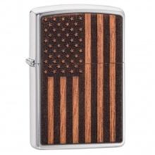 Bật lửa Zippo WOODCHUCK USA American Flag 29966
