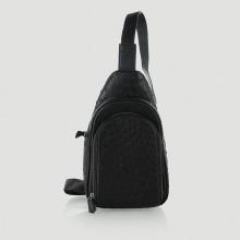 Túi đeo trước nam da đà điểu Huy Hoàng màu đen HV6443