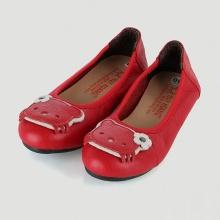 Giày trẻ em nữ Huy Hoàng da bò màu đỏ HV7861