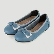 Giày trẻ em nữ Huy Hoàng da bò màu xanh HV7862