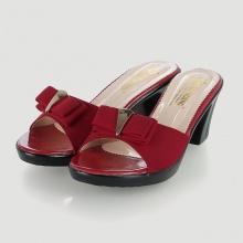 Dép nữ thời trang Huy Hoàng đế vuông màu đỏ HV7945