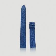 Dây đồng hồ Huy Hoàng da đà điểu size nhỏ 12, 14 màu xanh dương HV8465
