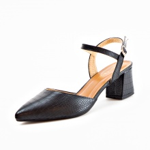 Giày nữ, giày cao gót kitten heels Erosska bít mũi phối dây thời trang cao 5 cm EK007 (BA)