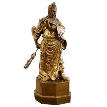 Tượng đồng Quan Công khảm ngũ sắc 79cm cao cấp nhất