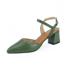 Giày nữ, giày cao gót kitten heels Erosska bít mũi phối dây thời trang cao 5 cm EK007 (GE)