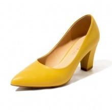 Giày cao gót thời trang mũi nhọn đế vuông cao 7cm Erosska basic - EP001 (YE)