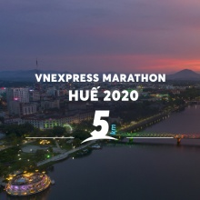 Vé Vnexpress Marathon cự ly 5KM - Huế - Early Bird
