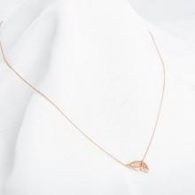 Dây chuyền vàng hồng liền mặt DOJI 14K 0819CP-LAL013