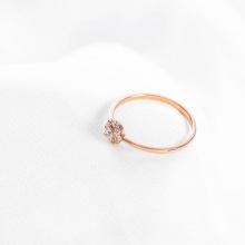 Nhẫn vàng hồng DOJI cao cấp 14K 0819R-LAL026