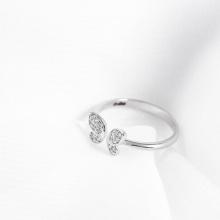 Nhẫn vàng trắng DOJI cao cấp 14K 0819R-LAL100