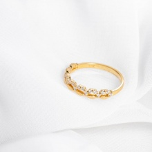 Nhẫn vàng DOJI cao cấp 14K 0819R-LAL346
