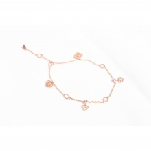 Lắc tay vàng hồng đính đá DOJI 14K 0819B-LAL326