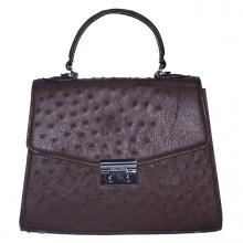 Túi hộp đeo chéo nữ Huy Hoàng da đà điểu màu nâu đất HV6458