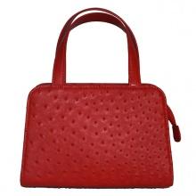 Túi xách nữ Huy Hoàng da đà điểu cỡ nhỏ màu đỏ HV6467