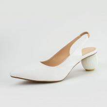 Giày cao gót mũi nhọn quai thun gót tròn thời trang Erosska cao 5cm EK009 (màu trắng)