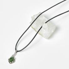 Mặt dây chuyền hoa văn ngọc bích 11.6x22.3mm mệnh hỏa, mộc - Ngọc Quý Gemstones
