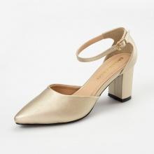 Giày nữ, giày cao gót kitten heels Erosska bít mũi phối dây thời trang cao 7 cm EK010 (màu vàng)