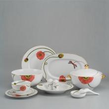 Bộ đồ ăn Âu - Á 46 sản phẩm - Camellia - kết duyên
