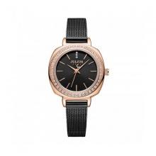 Đồng hồ nữ ja-1213d Julius hàn quốc dây thép mặt đen