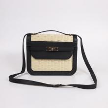 Túi cói thời trang màu đen NORD115