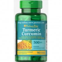 Viên uống trắng da, trị nám, điều trị đau dạ dày Turmeric curcumin 500mg 90v của Puritan's Pride