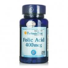 Viên uống ngăn ngừa thiếu máu Puritan's Pride Folic Acid 400mcg (250 viên)