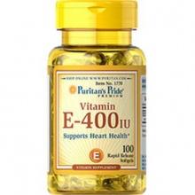 Viên uống dưỡng ẩm cho da, chống lão hóa da bổ sung Vitamin E 400IU 100 viên Puritan's Pride